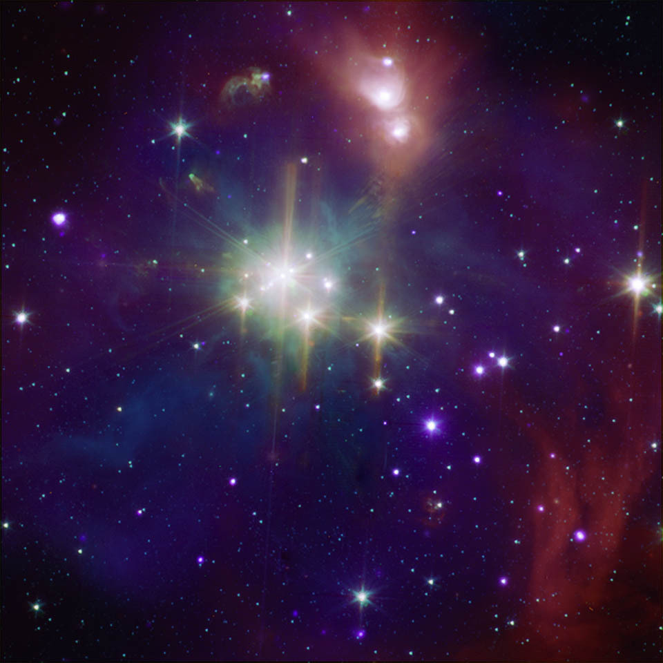 The coronet cluster in x ray and infrared nasa spitzer - Nasa screensaver ...