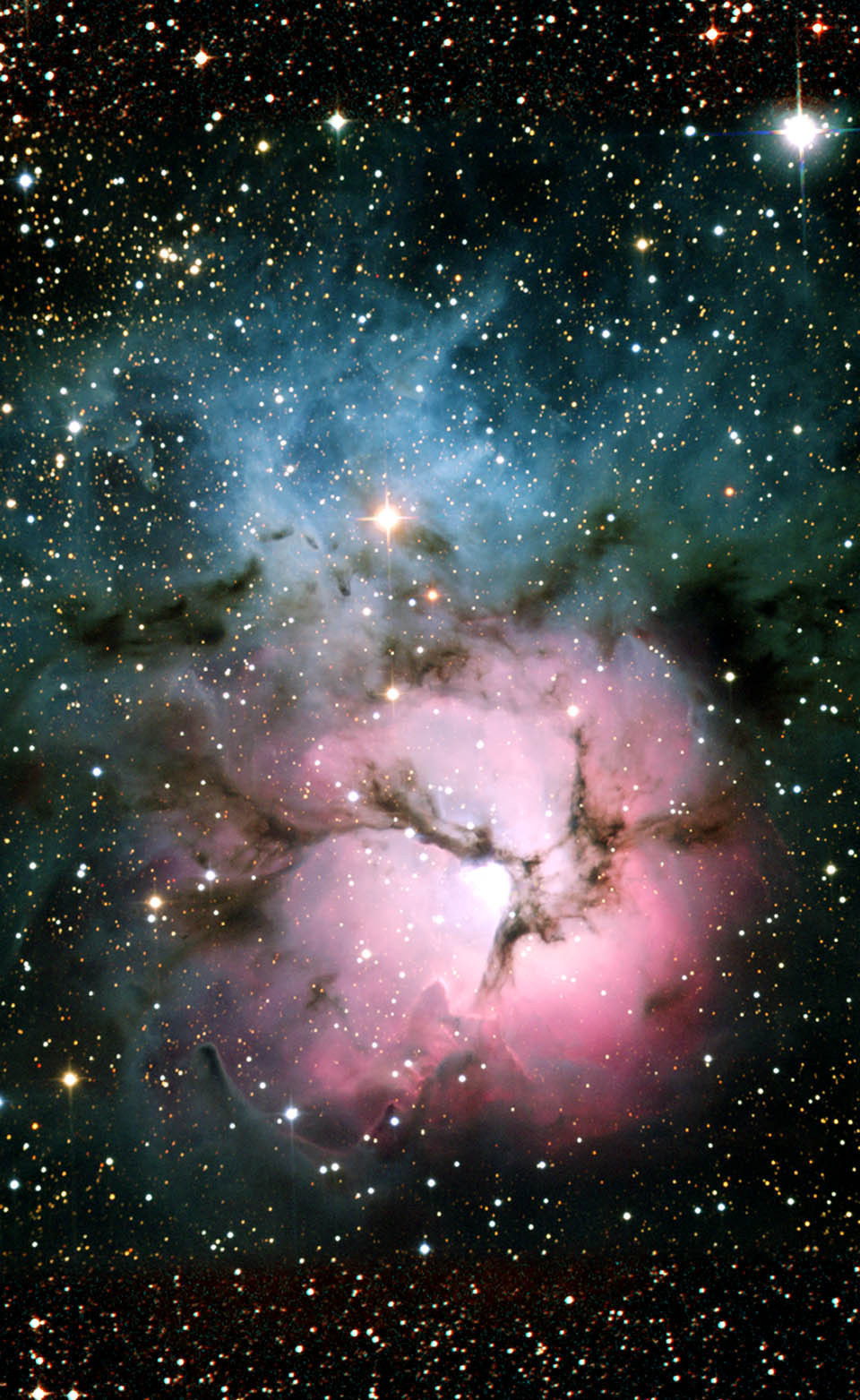 Visible-Light Picture of the Trifid Nebula - NASA Spitzer
