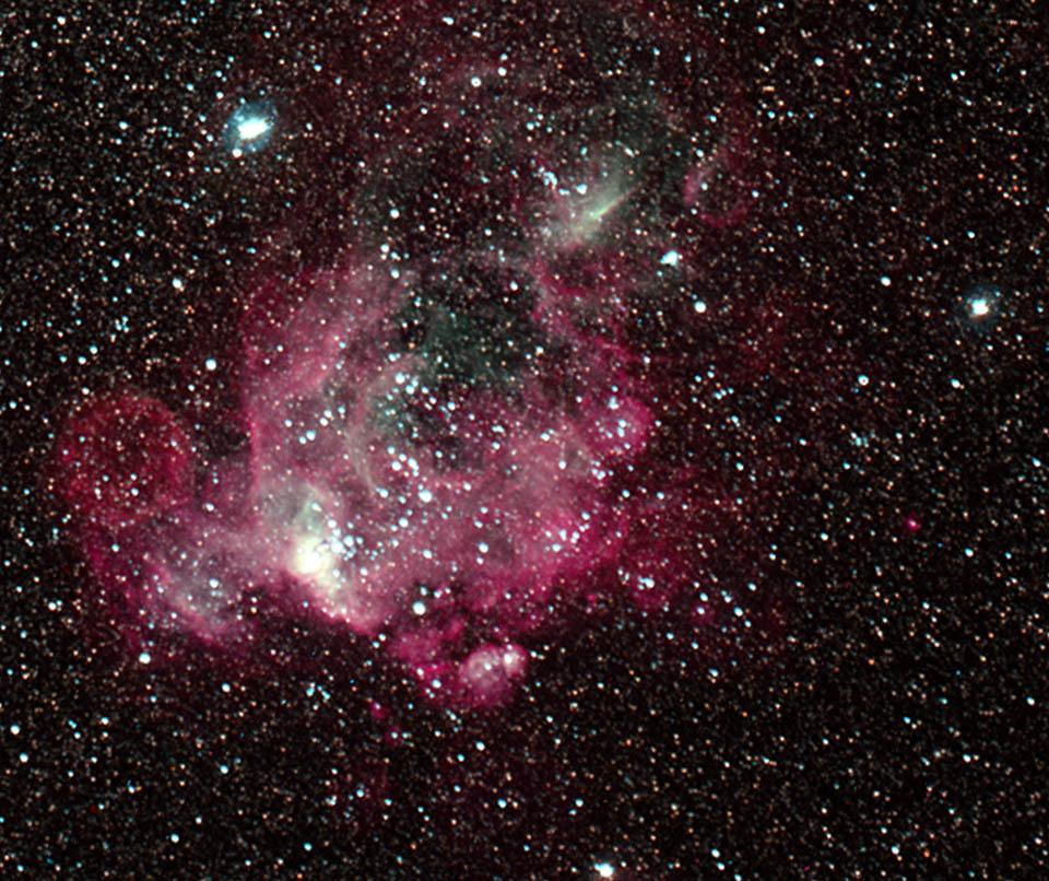 Visible-light image of Henize 206 - NASA Spitzer Space Telescope