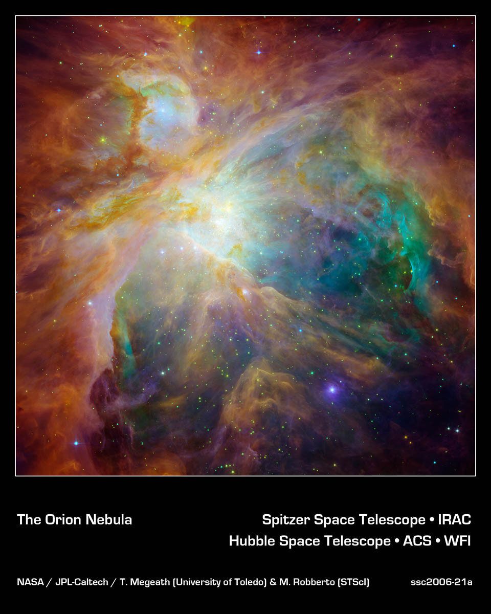 Chaos at the heart of orion nasa spitzer space telescope - Spitzer space telescope wallpaper ...