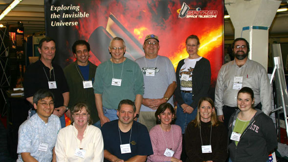 Participants in the Spitzer Research Program for Teachers at the American Astronomical Society meeting in January 2005.