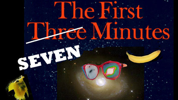 "Facetious logo for ""The First Seven Minutes"""