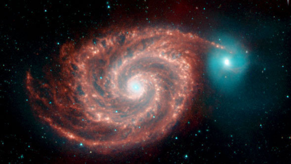 This image of the Whirlpool Galaxy was obtained as part of a Legacy program.