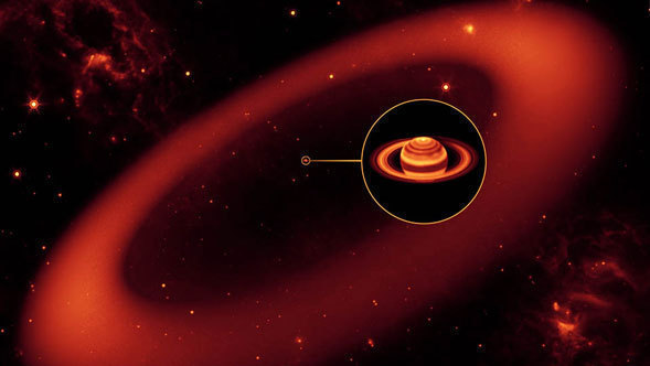 Artist Concept of Saturns New Ring