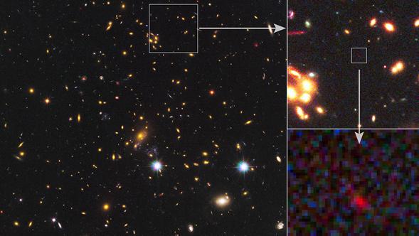La galassia più distante