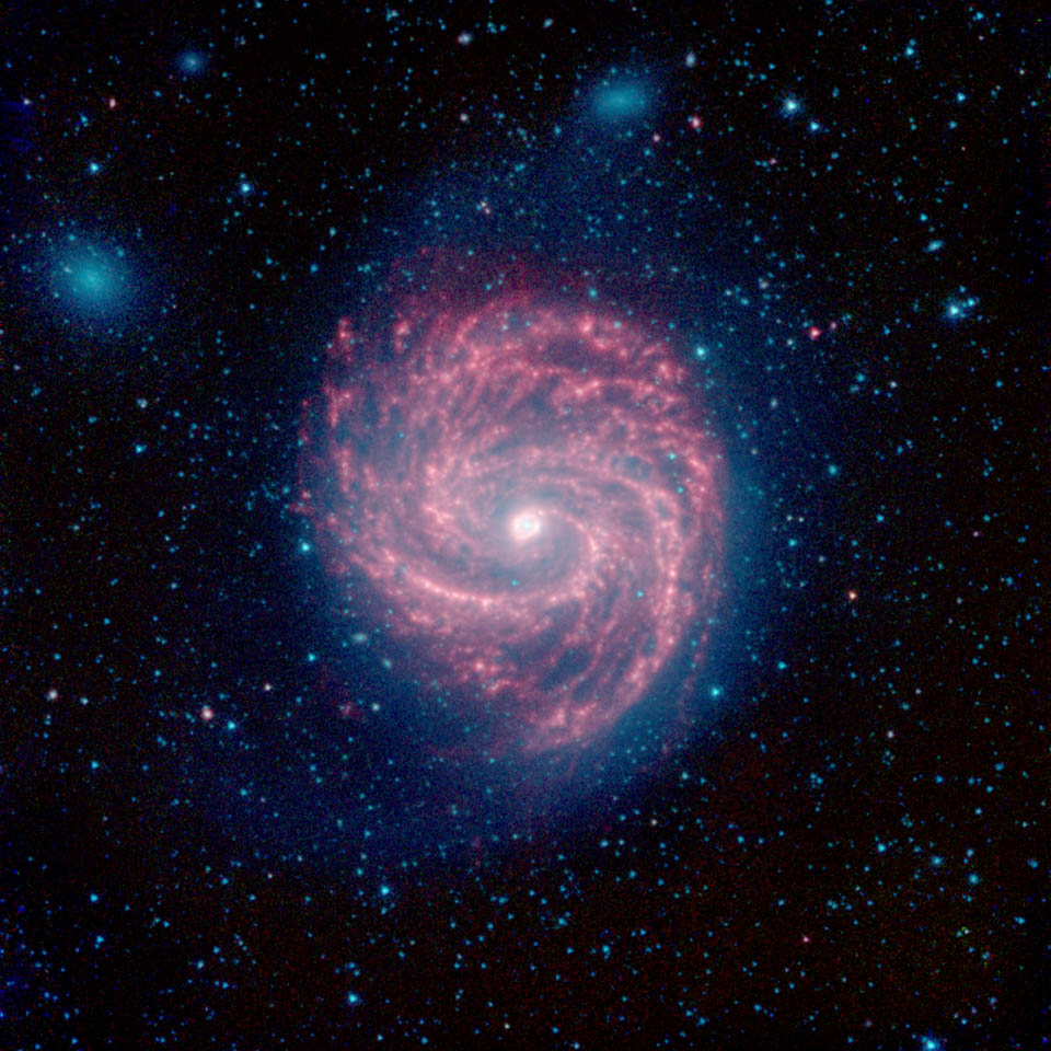 The Swirling Arms of the M100 Galaxy - NASA Spitzer Space ...